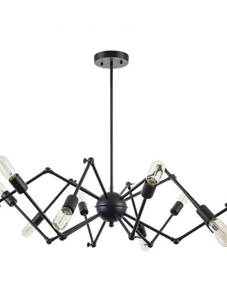 level flexible black wire chandelier 1 461x614