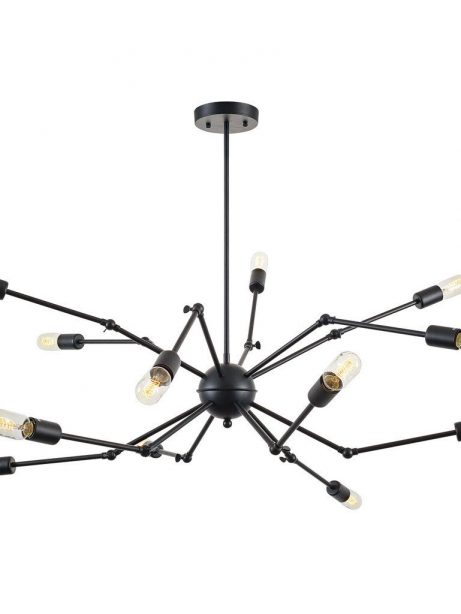 level flexible black wire chandelier 2 461x614