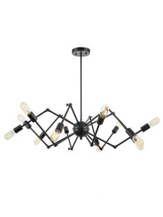level flexible black wire chandelier 237x315