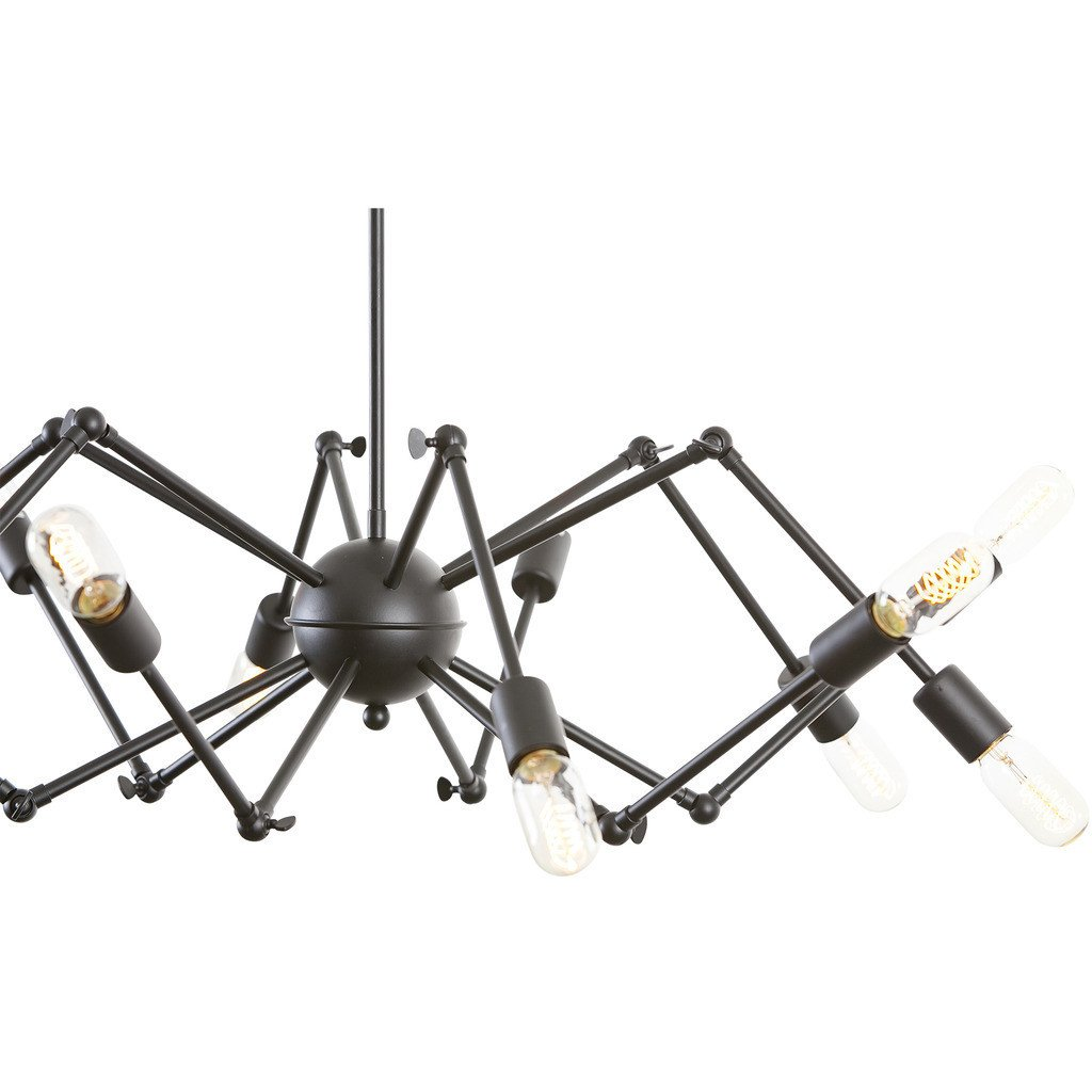 Level flexible black wire chandelier modern furniture brickell level flexible black wire chandelier 3 aloadofball Image collections