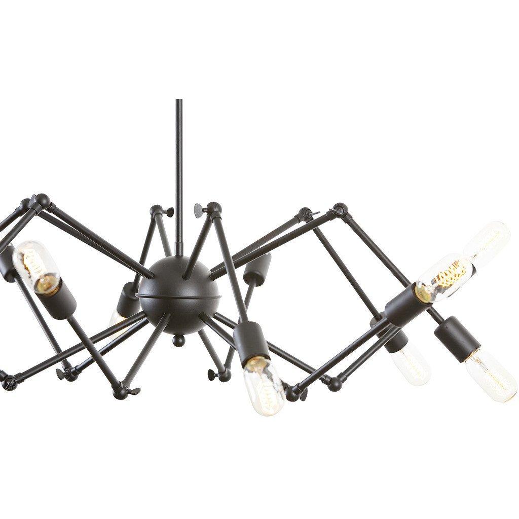 black chandelier lighting. Level Flexible Black Wire Chandelier 3 Lighting
