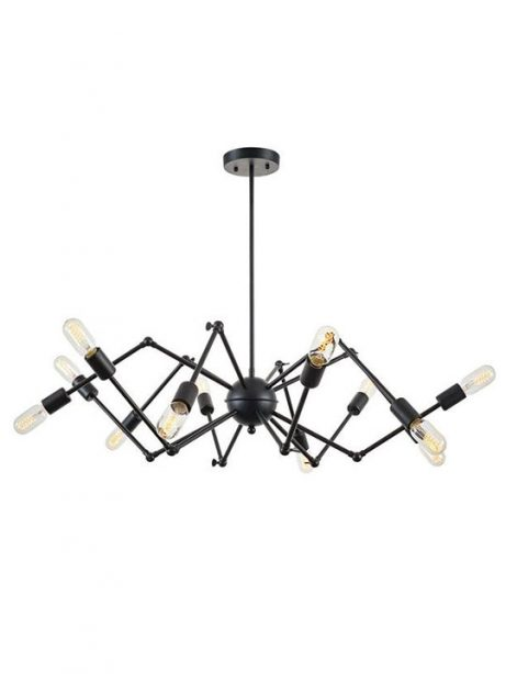 level flexible black wire chandelier 461x614