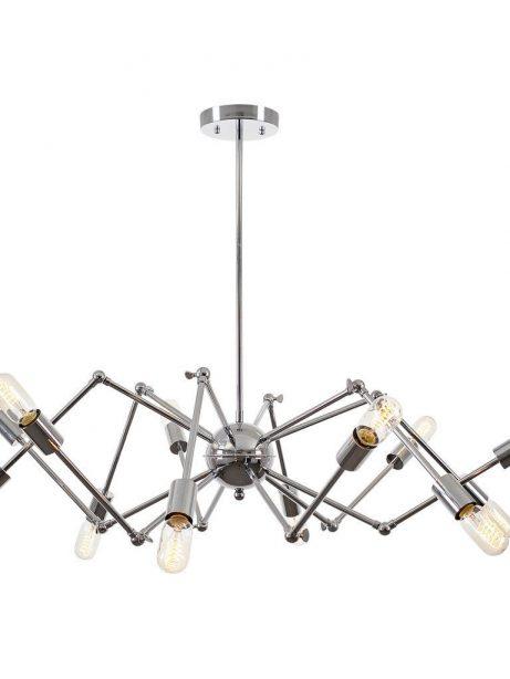 level flexible wire silver chandelier 1 461x614