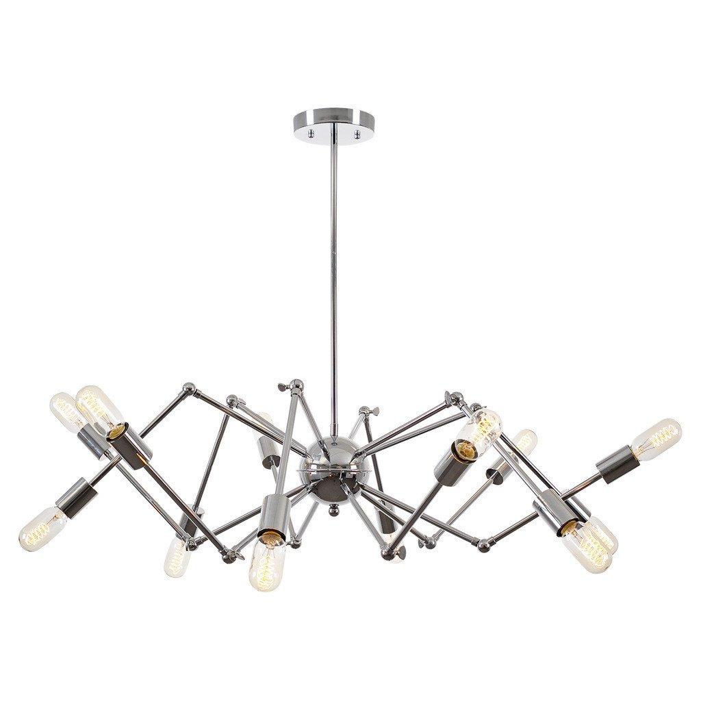 level flexible wire silver chandelier 1