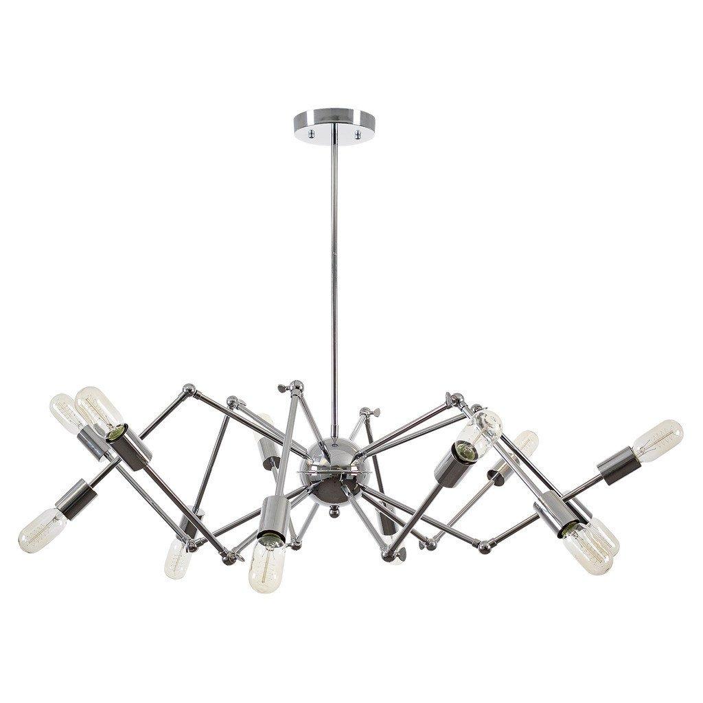 level flexible wire silver chandelier 2