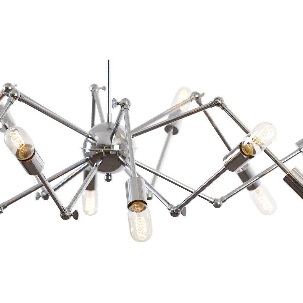 level flexible wire silver chandelier 3