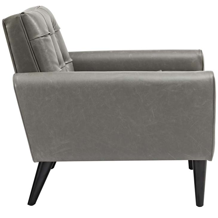 midnight leather armchair gray 2