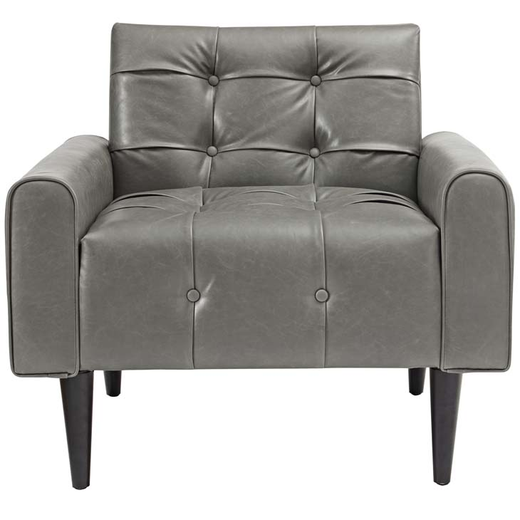 midnight leather armchair gray 4