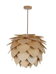 natural wood petals large pendant light 237x315
