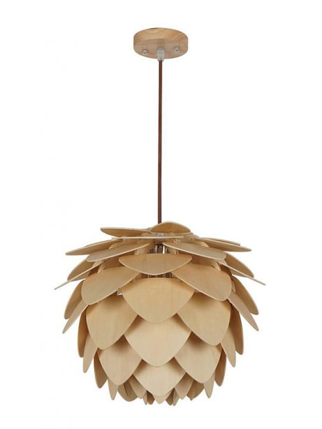 natural wood petals medium pendant light 461x614