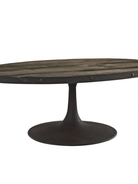 reclaimed wood oval coffee table natural wood 1 461x614