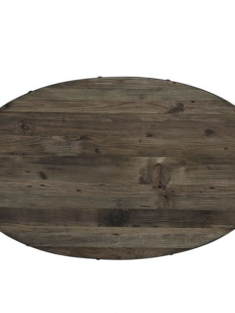 reclaimed wood oval coffee table natural wood 2 461x614