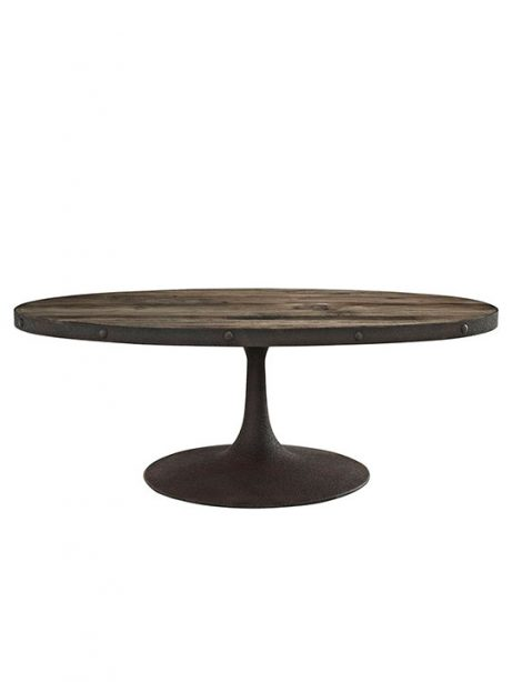 reclaimed wood oval coffee table natural wood 461x614