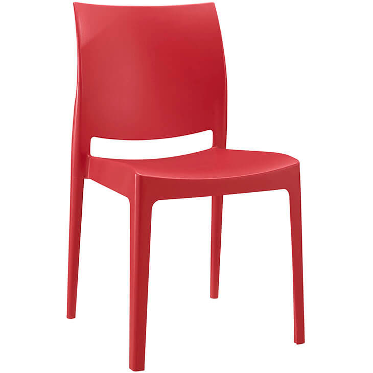 red chair plastic