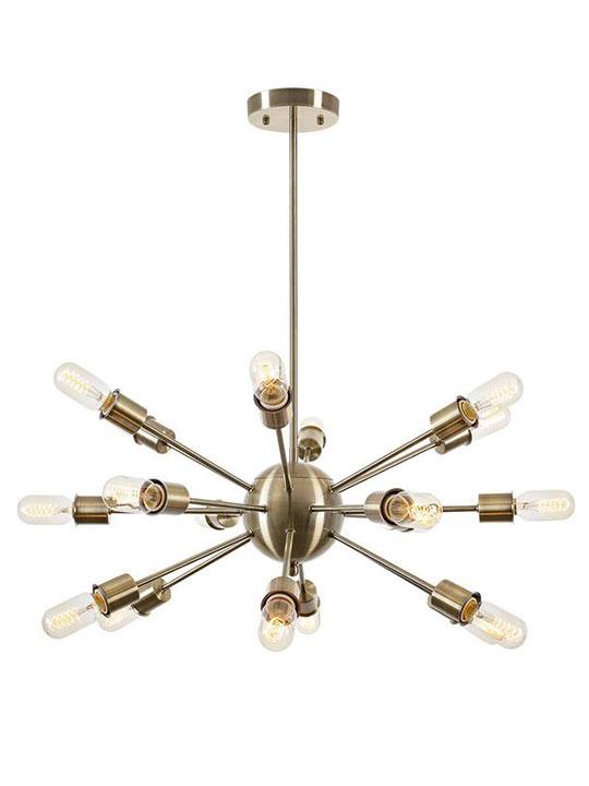 sputnik brass gold chandelier