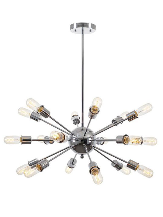 sputnik silver chrome chandelier