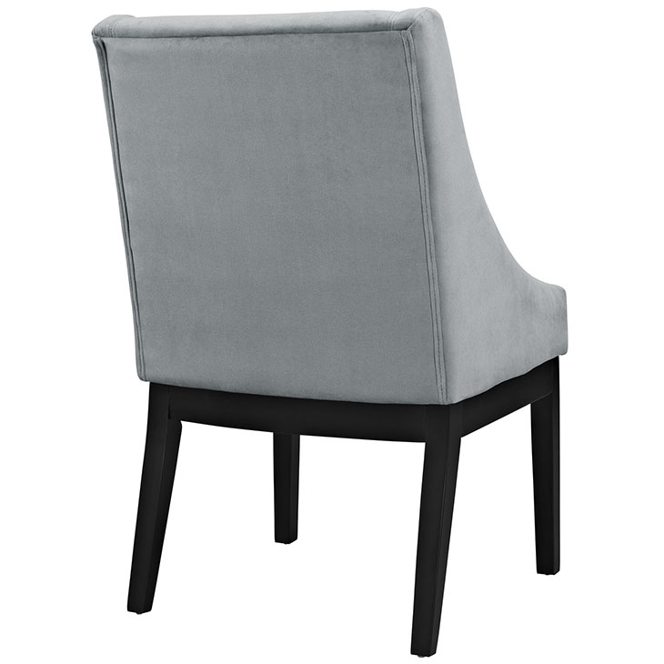 suede kima chair gray 3
