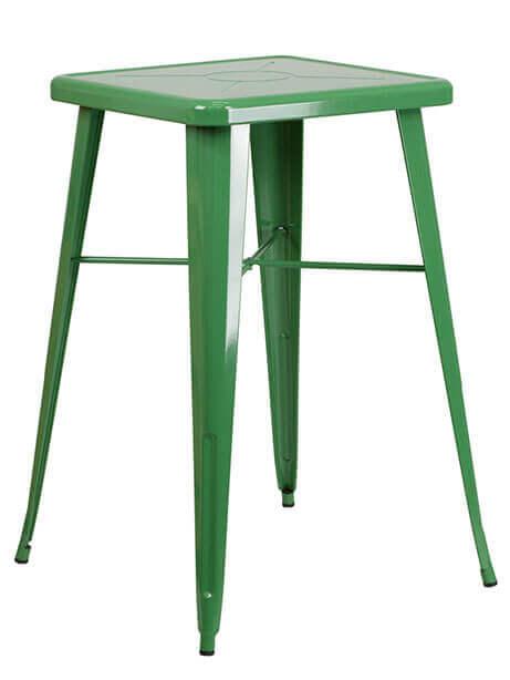 tonic bar table 23 metal green 1