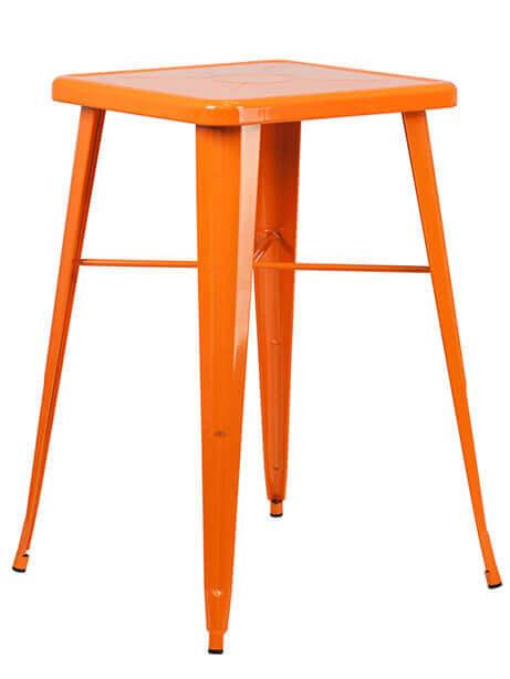 tonic bar table 23 orange metal 1