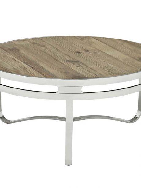 wood chrome circular coffee table 1 461x614