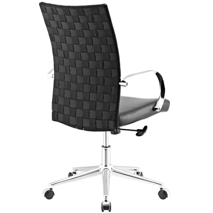 black woven office chair 4