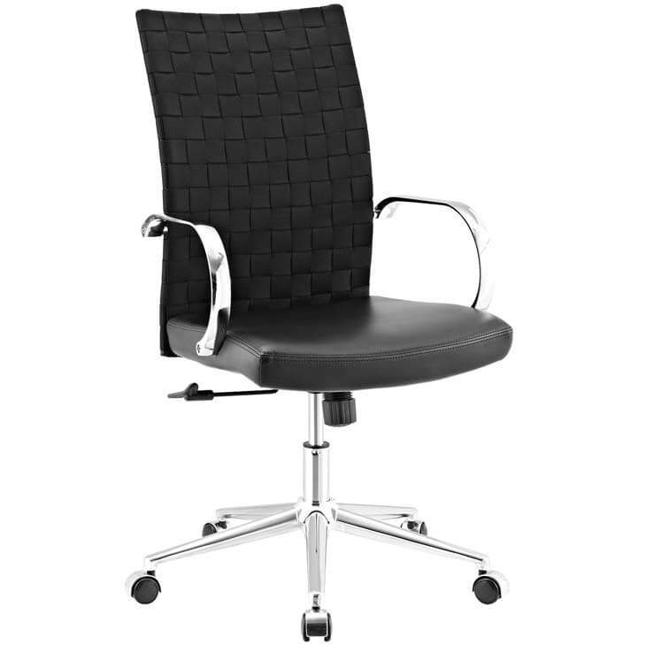 black woven office chair 6