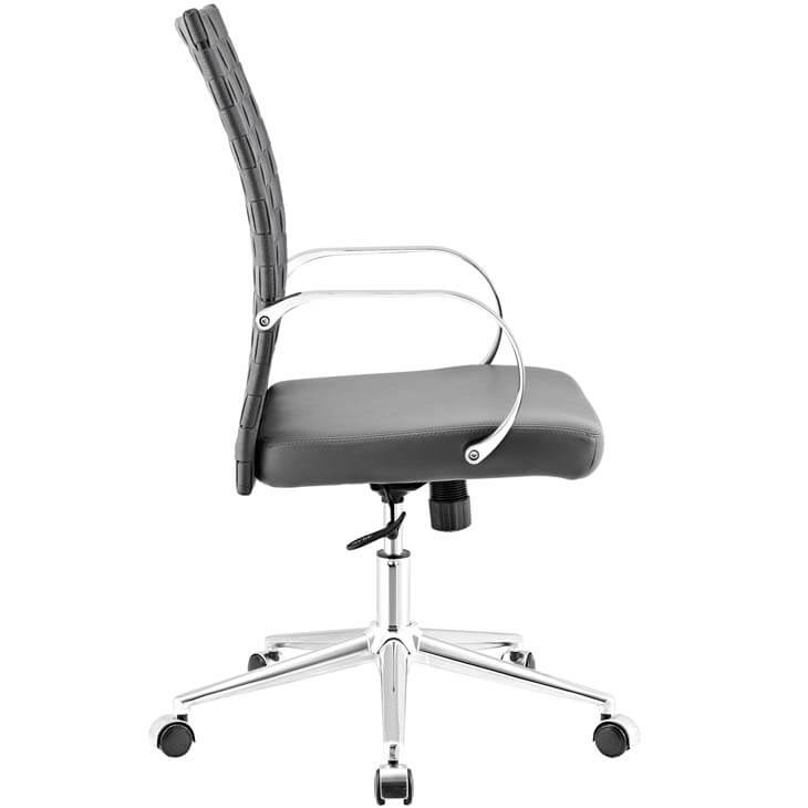 gray woven office chair 6