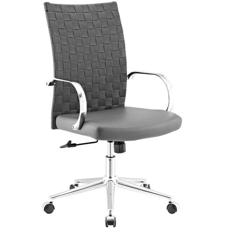 gray woven office chair 7