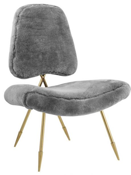 stratus gold sheepskin accent chair gray 1 461x614
