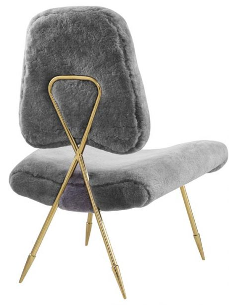 stratus gold sheepskin accent chair gray 3 461x614