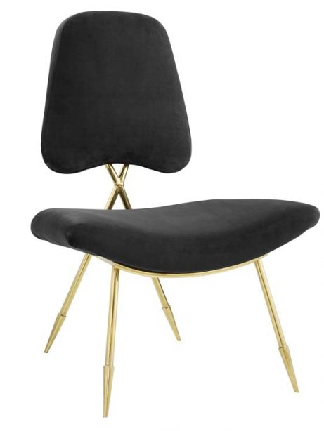stratus gold velvet accent chair black 1 461x614
