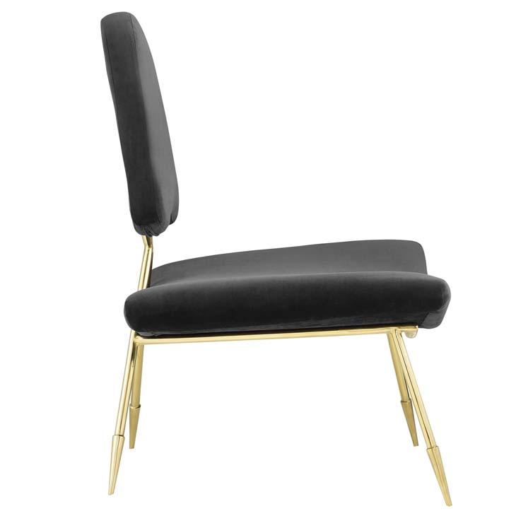 stratus gold velvet accent chair black 2