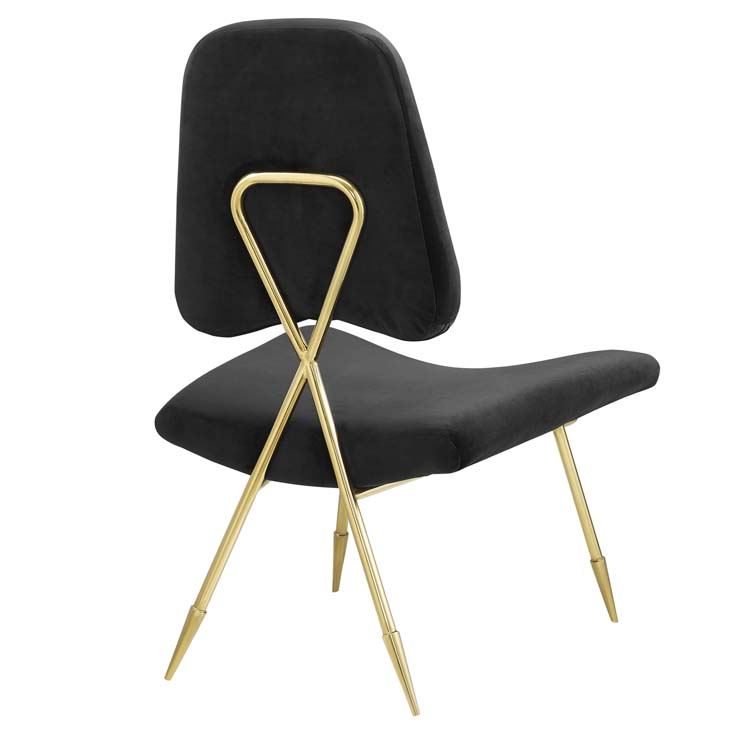 Stratus Gold Velvet Accent Chair Black 3