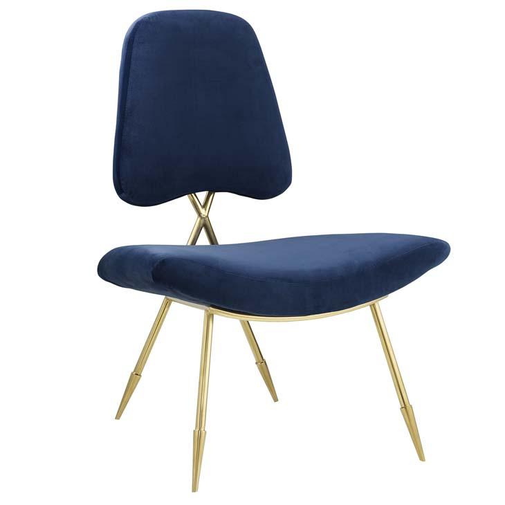 stratus gold velvet accent chair blue 1