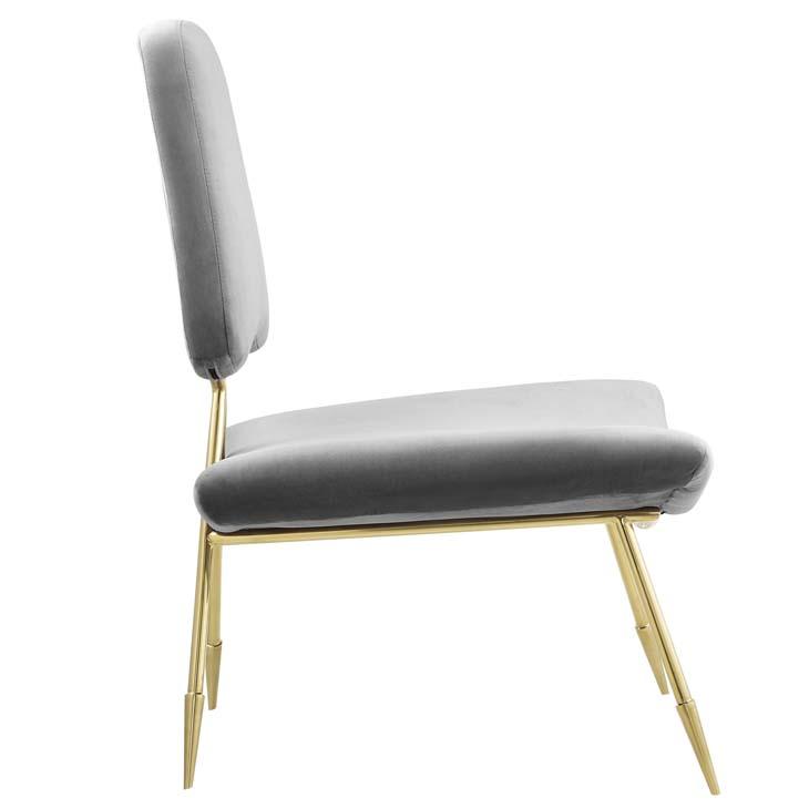 stratus gold velvet accent chair gray 2