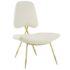 Stratus Gold Velvet Accent Chair White