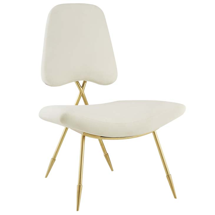 Stratus Gold Velvet Accent Chair White 1
