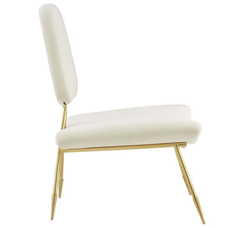stratus gold velvet accent chair white 2
