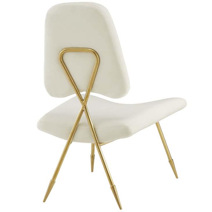 stratus gold velvet accent chair white 3