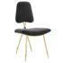 Stratus Gold Velvet Chair Black