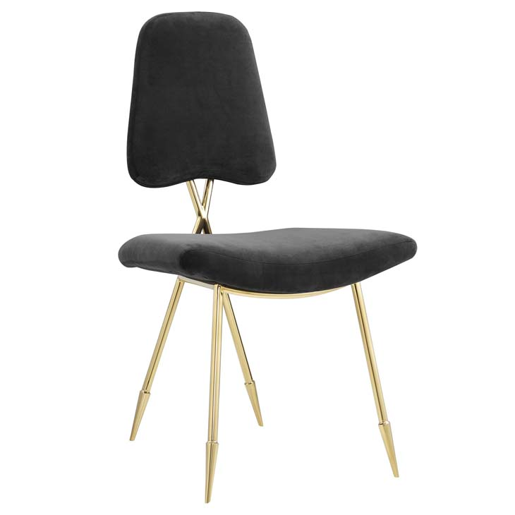 stratus gold velvet chair black 1