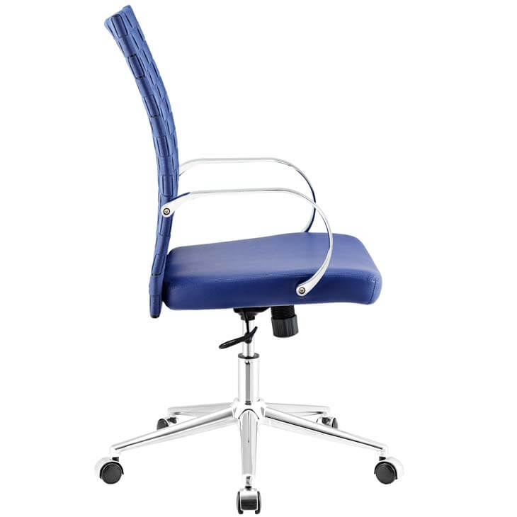 woven office chair blue 1