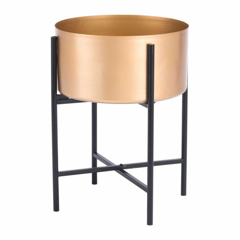 Gold Black Planter Stand medium size 1