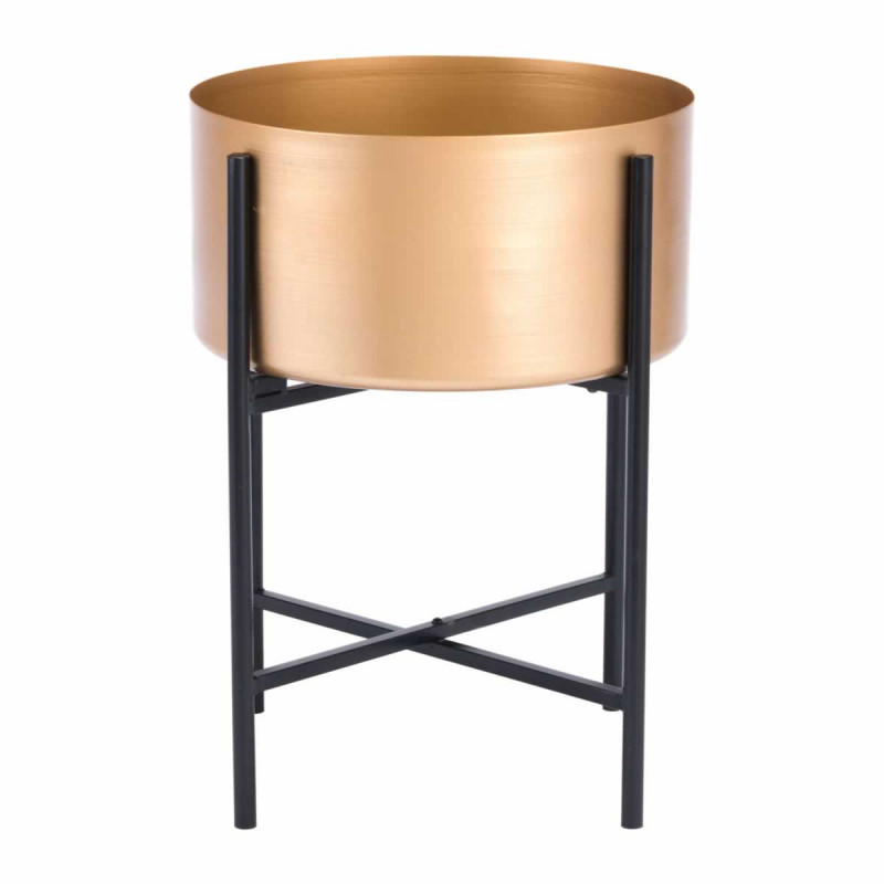 Gold Black Planter Stand medium size 3