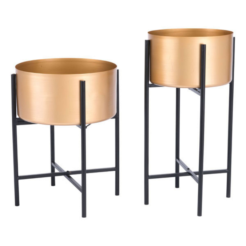 Gold Black Planter Stand medium size 4