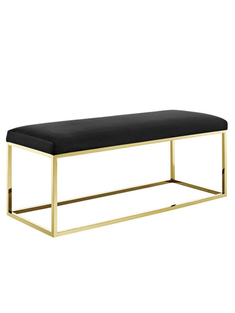 Gold Metallic Bench