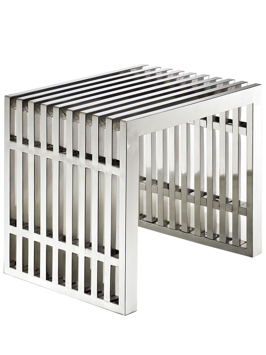 stainless modern bench