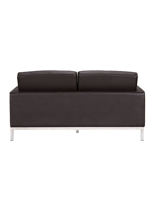 Bateman Black Leather Loveseat 4