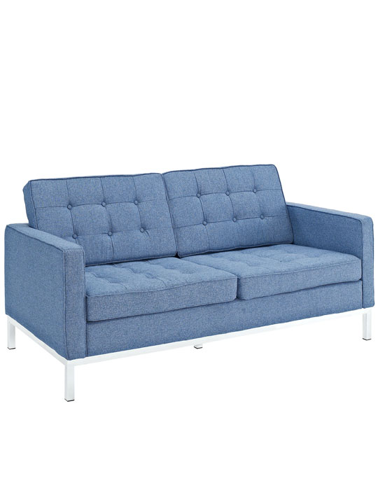 Bateman Blue Wool Love Seat 2