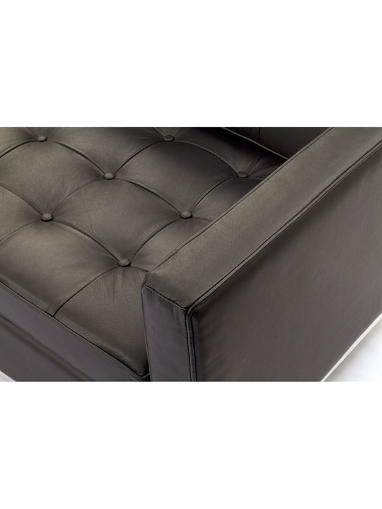 Bateman Brown Leather Loveseat 6